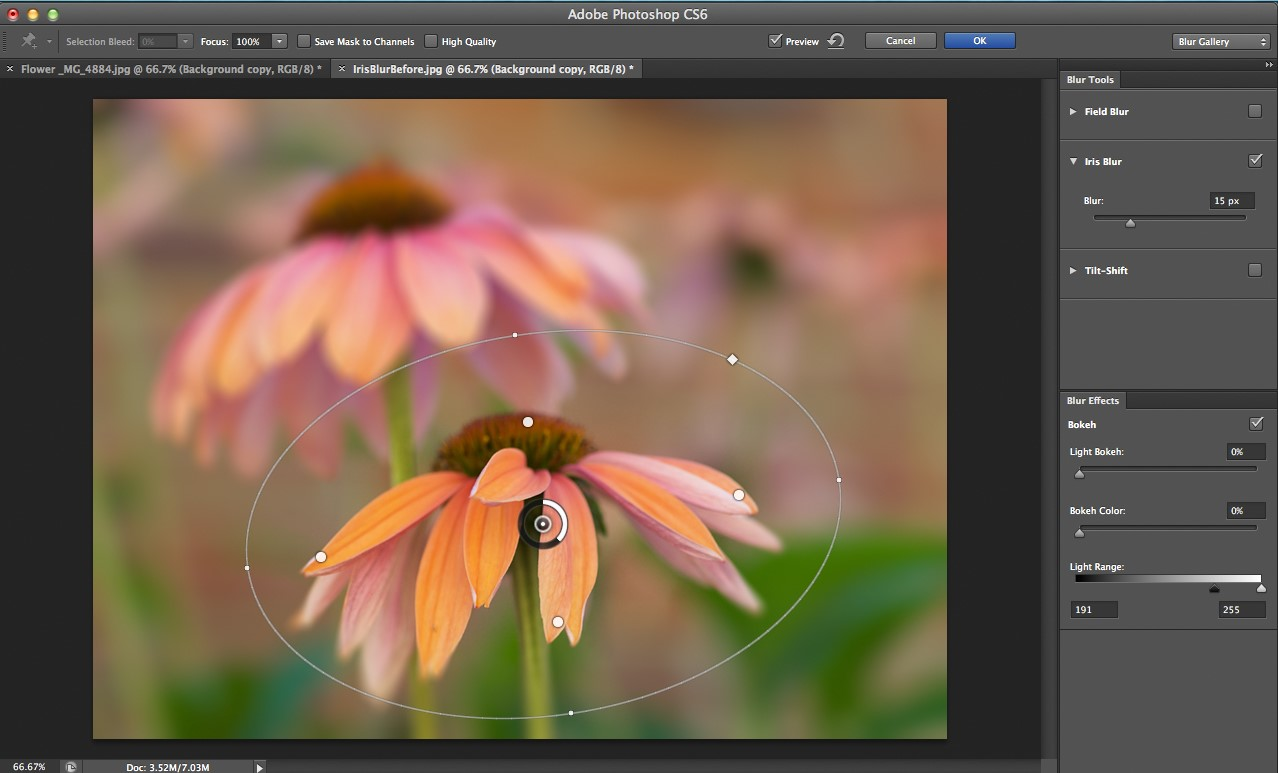 Photoshop cs6 blur gallery tutorial digital photography review the blur gallery opens in a full size window that temporarily replaces your regular workspace panels along the right give you access to all three of the baditri Choice Image