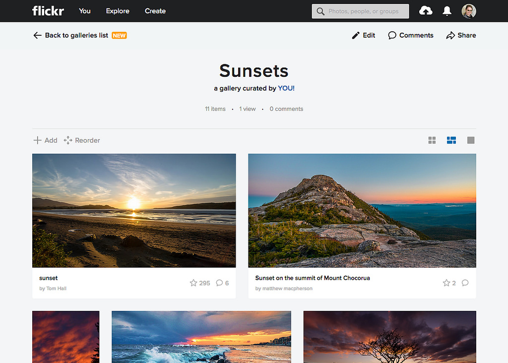 Flickr announces major update to Galleries section: Digital
