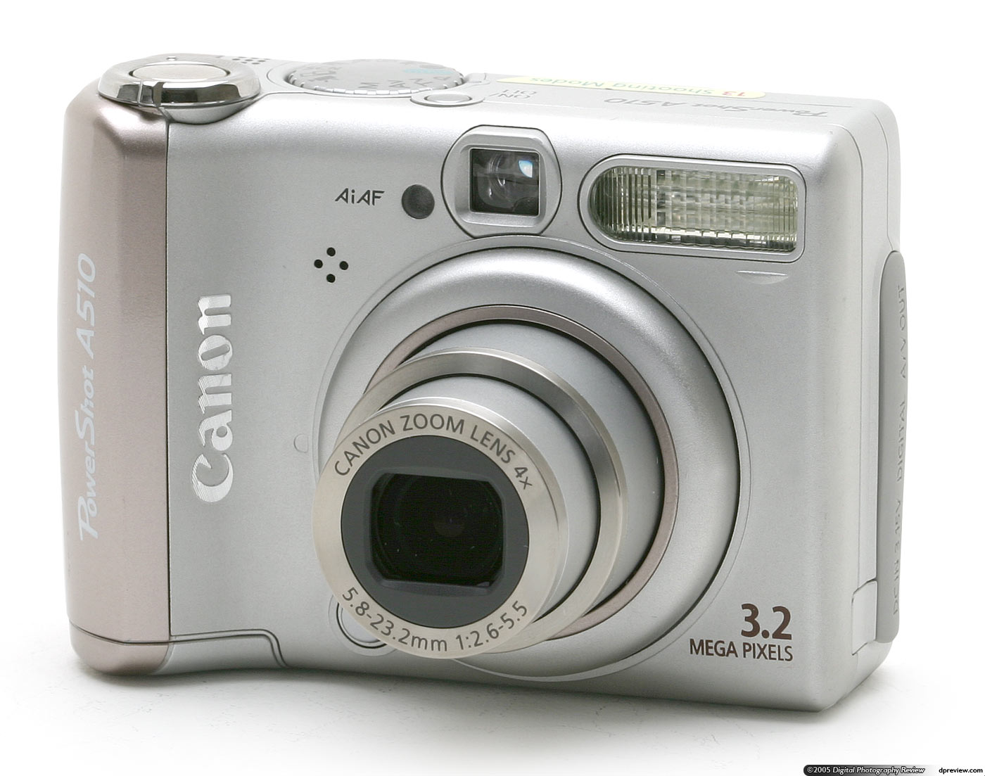 canon powershot a510 review digital photography review rh dpreview com Pics of Canon PowerShot A510 Battery Canon PowerShot A510