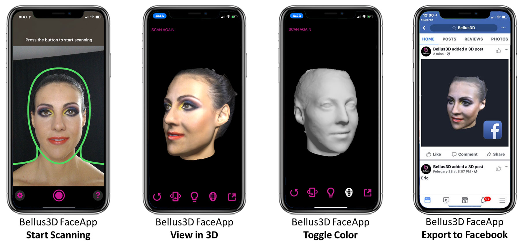 Bellus3D uses the iPhone X's TrueDepth camera to 3D scan your face
