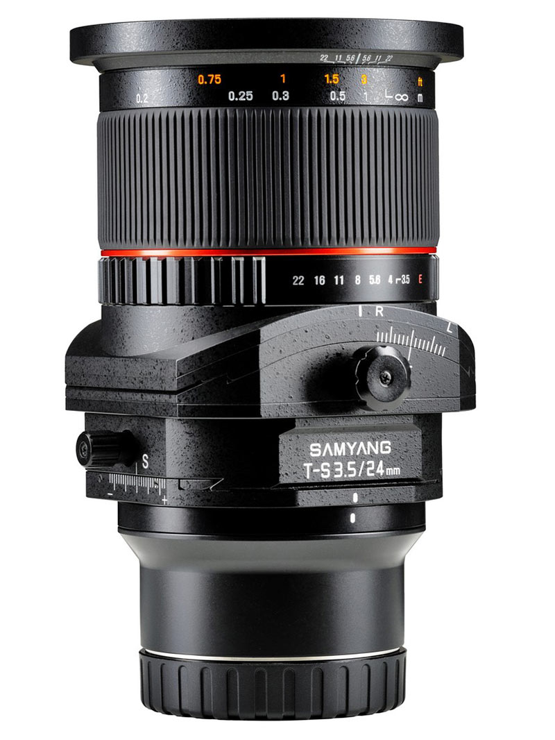 samyang t s 24mm f35 ed as umc e mount version