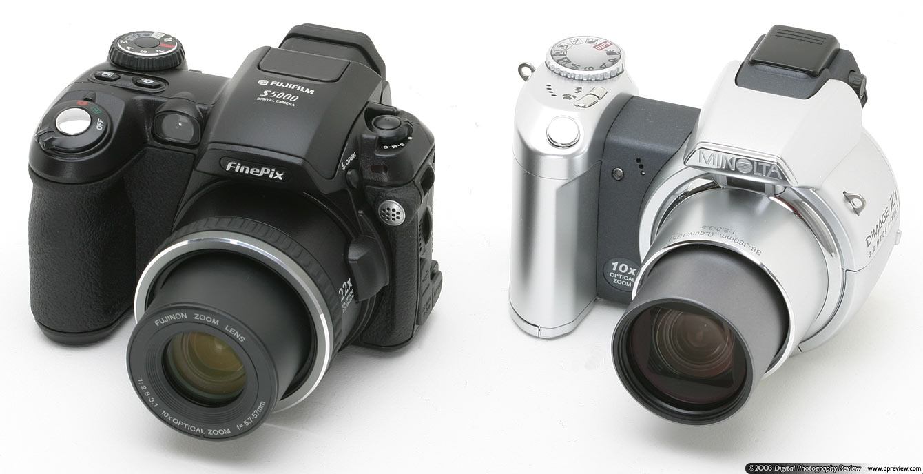 ... both sport 10x optical zoom lenses and both have a range of manual  controls. Design is a matter of personal taste but I prefer the S5000.