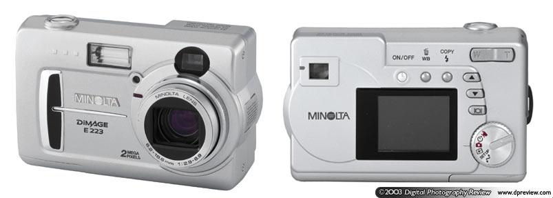 minolta introduces the new dimage e223 digital camera - Minolta Digital Camera