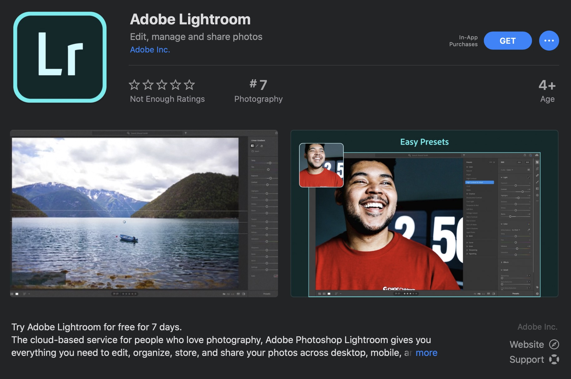 Adobe Lightroom is now available on Apple's Mac App Store for the