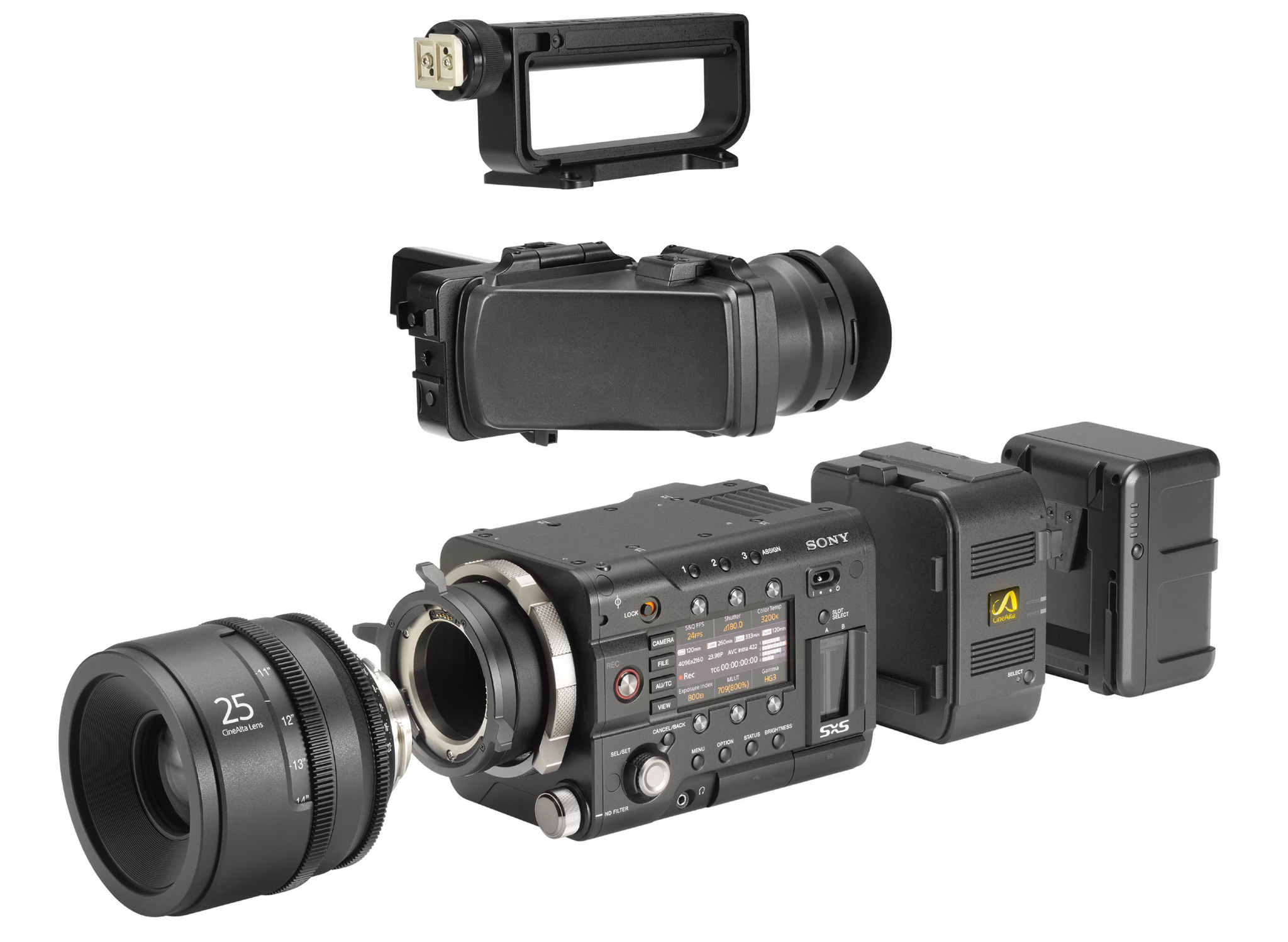Sony announces PMW-F55 4K pro camcorder with global shutter, F5