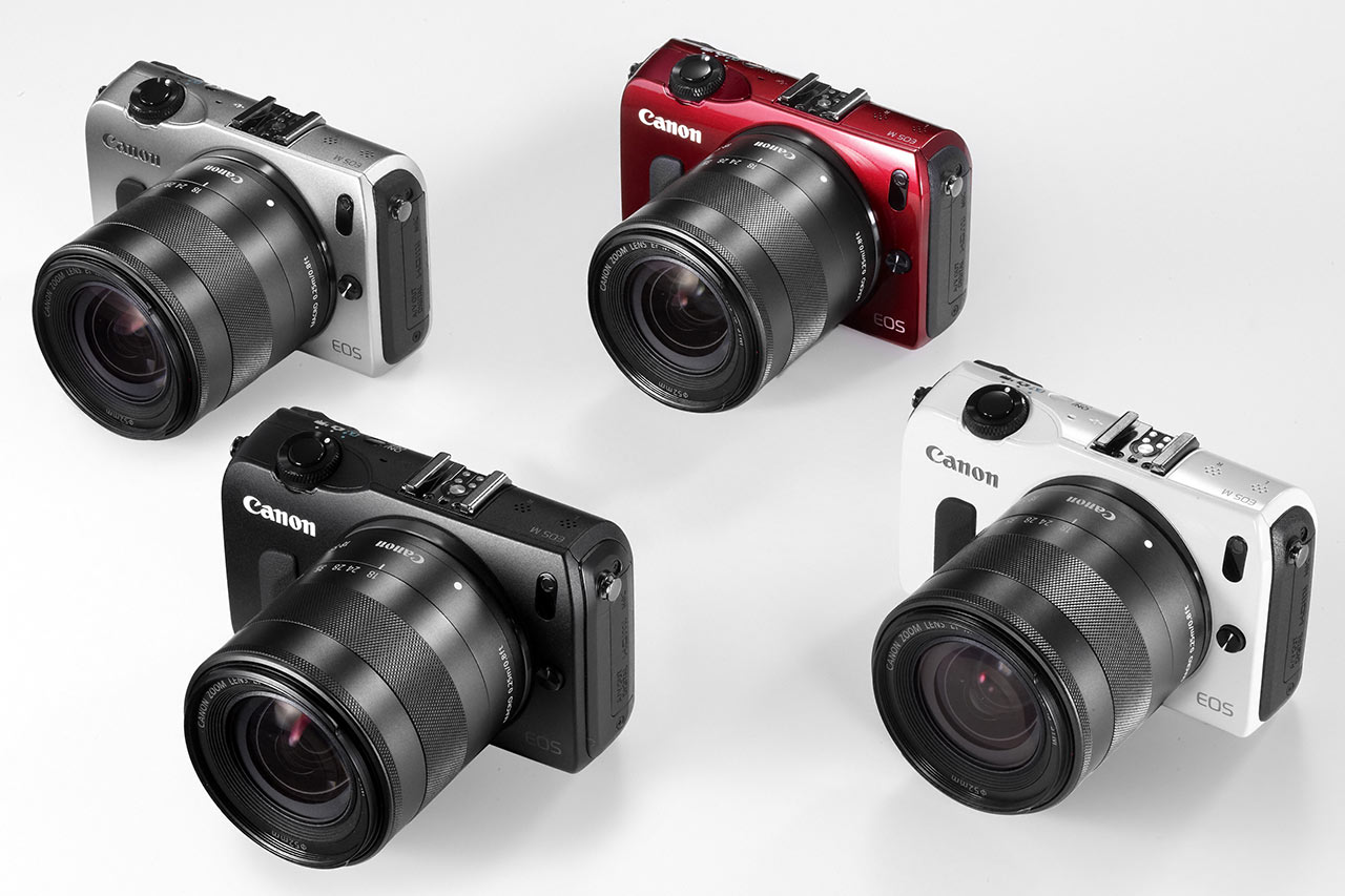 Canon Eos M Hands On Preview Digital Photography Review 70d Lensa 18 55 Is Stm Dslr Kit The Will Be Available In Four Colours Silver Red Black Or White Although They May Not All Sold Markets