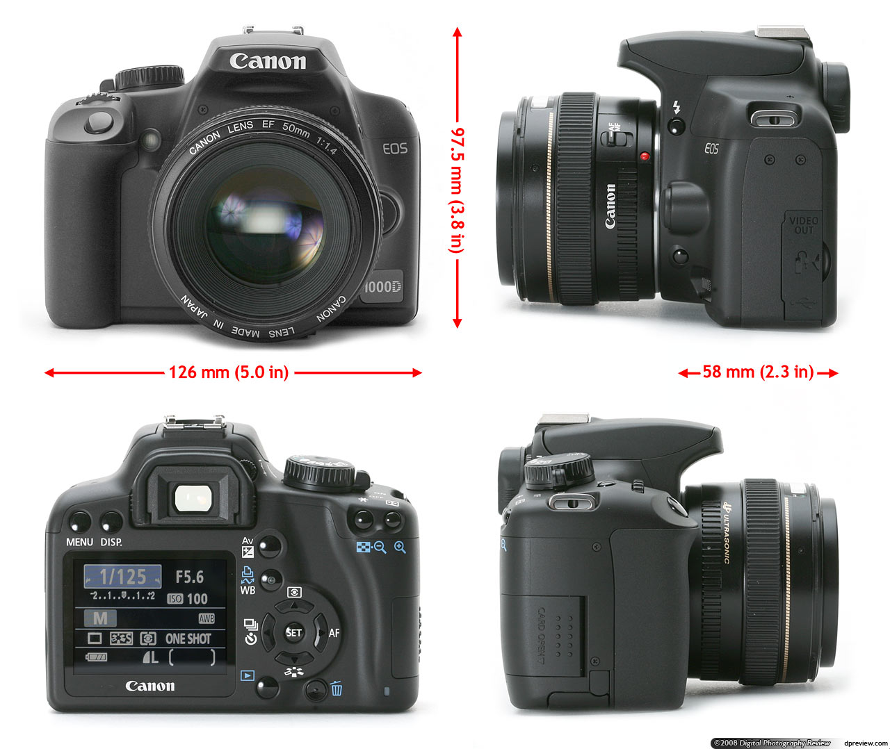 Canon EOS 1000D (Rebel XS / Kiss F) Review: Digital Photography Review
