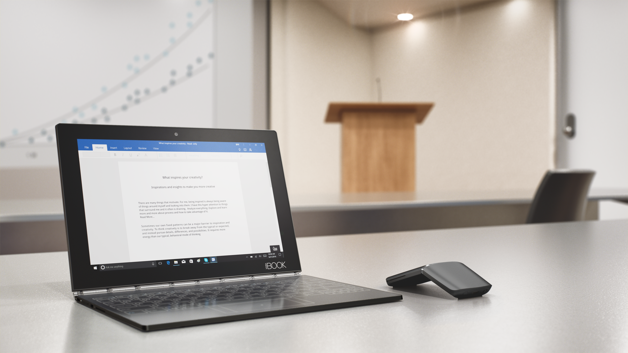 how to connect lenovo yoga book to monitor