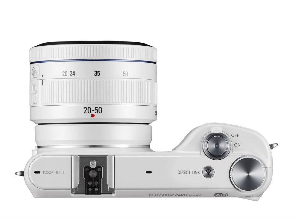 Samsung NX2000 Mirrorless Digital Camera EV-NX2000BGWUS B&H
