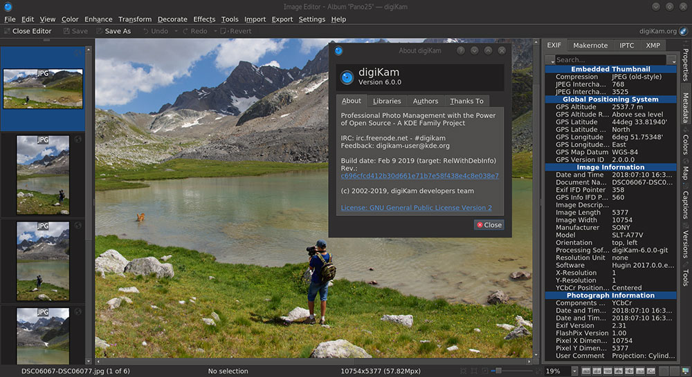 Open source image editing program digiKam now has video support, new