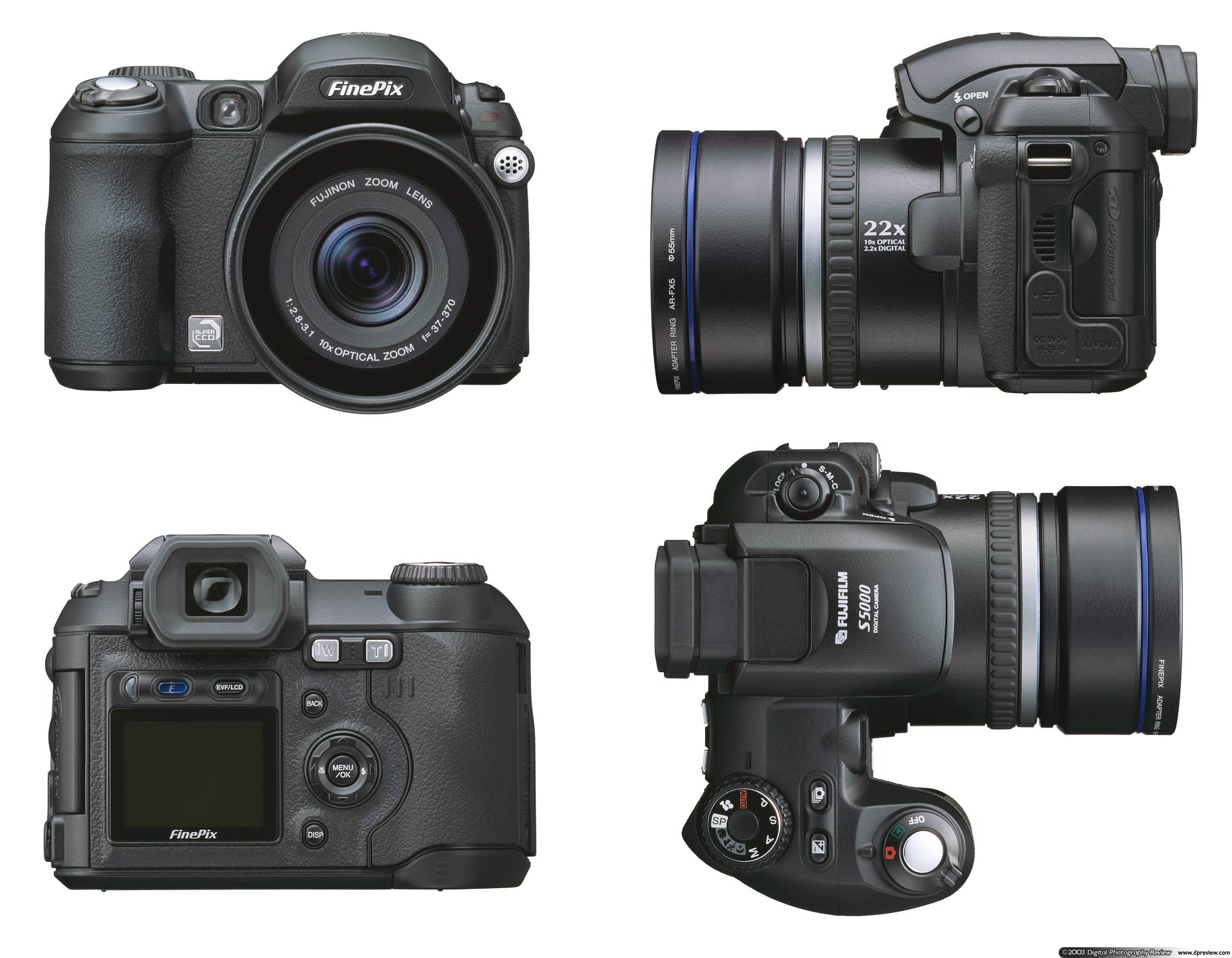 Fujifilm finepix s5000 zoom and preview digital for Fujifilm finepix s5000 prix