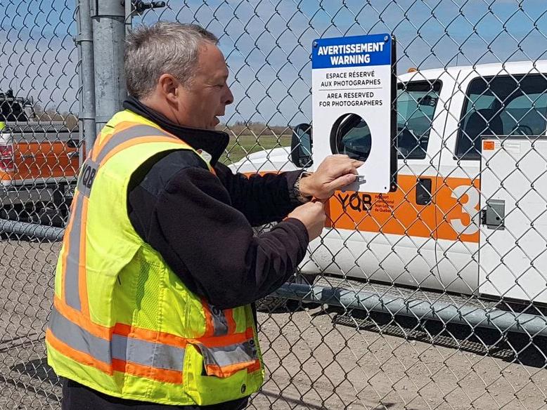 Camera-friendly Canadian airport cuts holes in perimeter