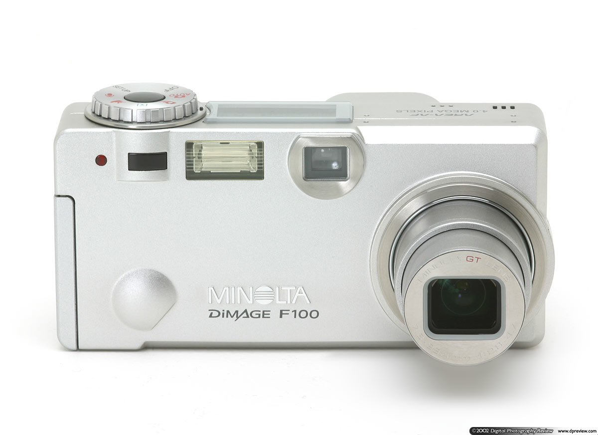 the four megapixel three times zoom minolta dimage f100 was announced at on 13th march 2002 at cebit its aim is as a direct competitor to canons - Minolta Digital Camera