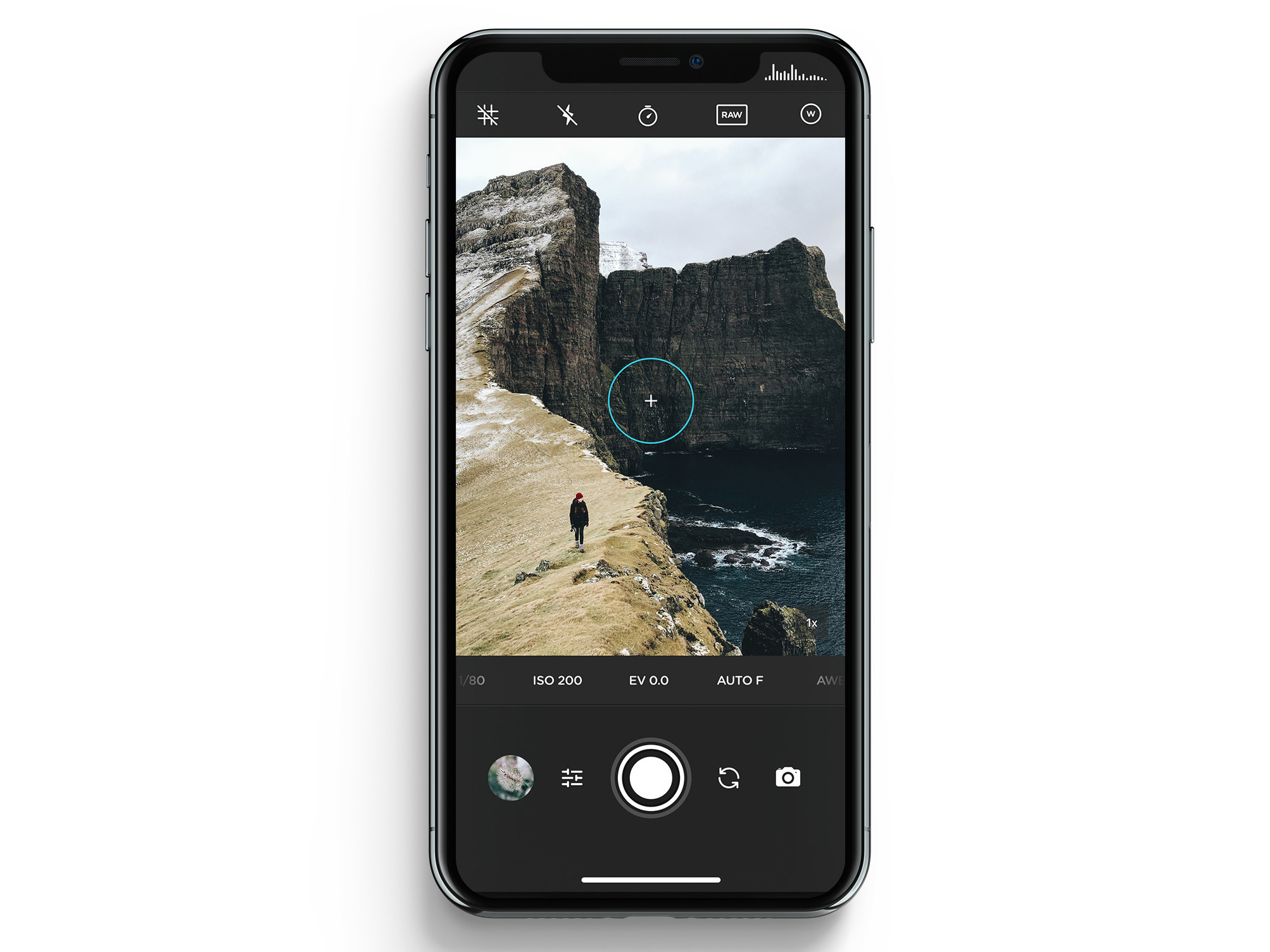 Moment launches camera app with focus on manual control