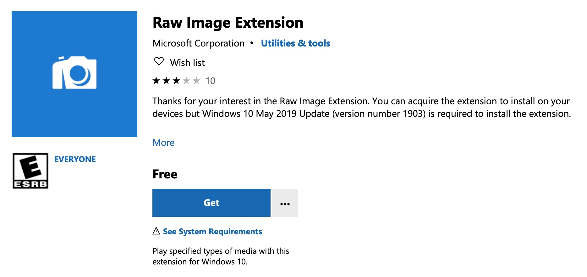 Microsoft releases Raw Image Extension to get raw image