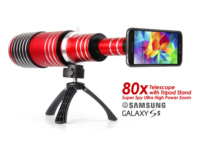 Telescope lens offers magnification for smartphone cameras