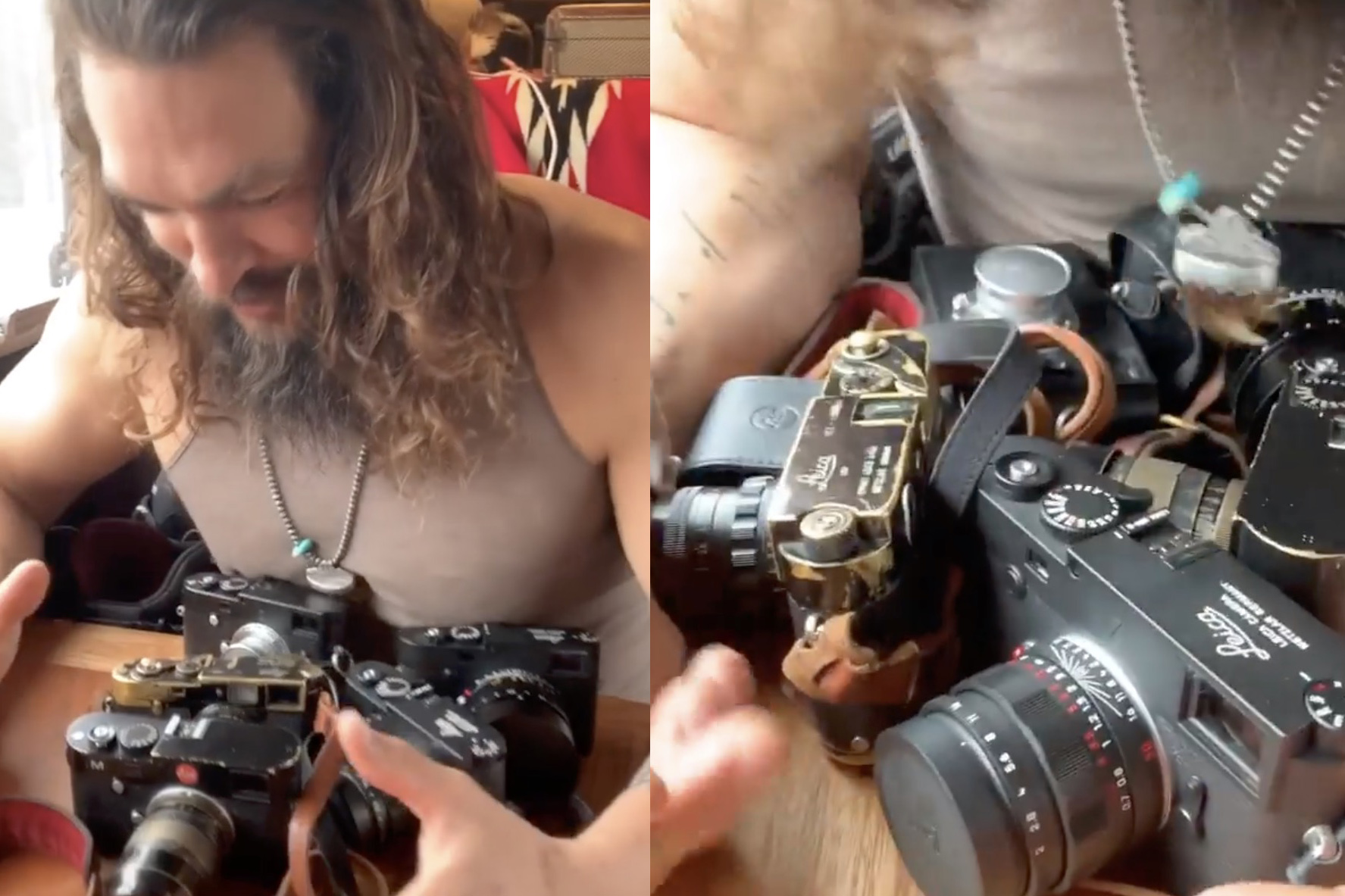 c453292da Jason Momoa, AKA Aquaman and Khal Drogo, is quite the Leica camera collector