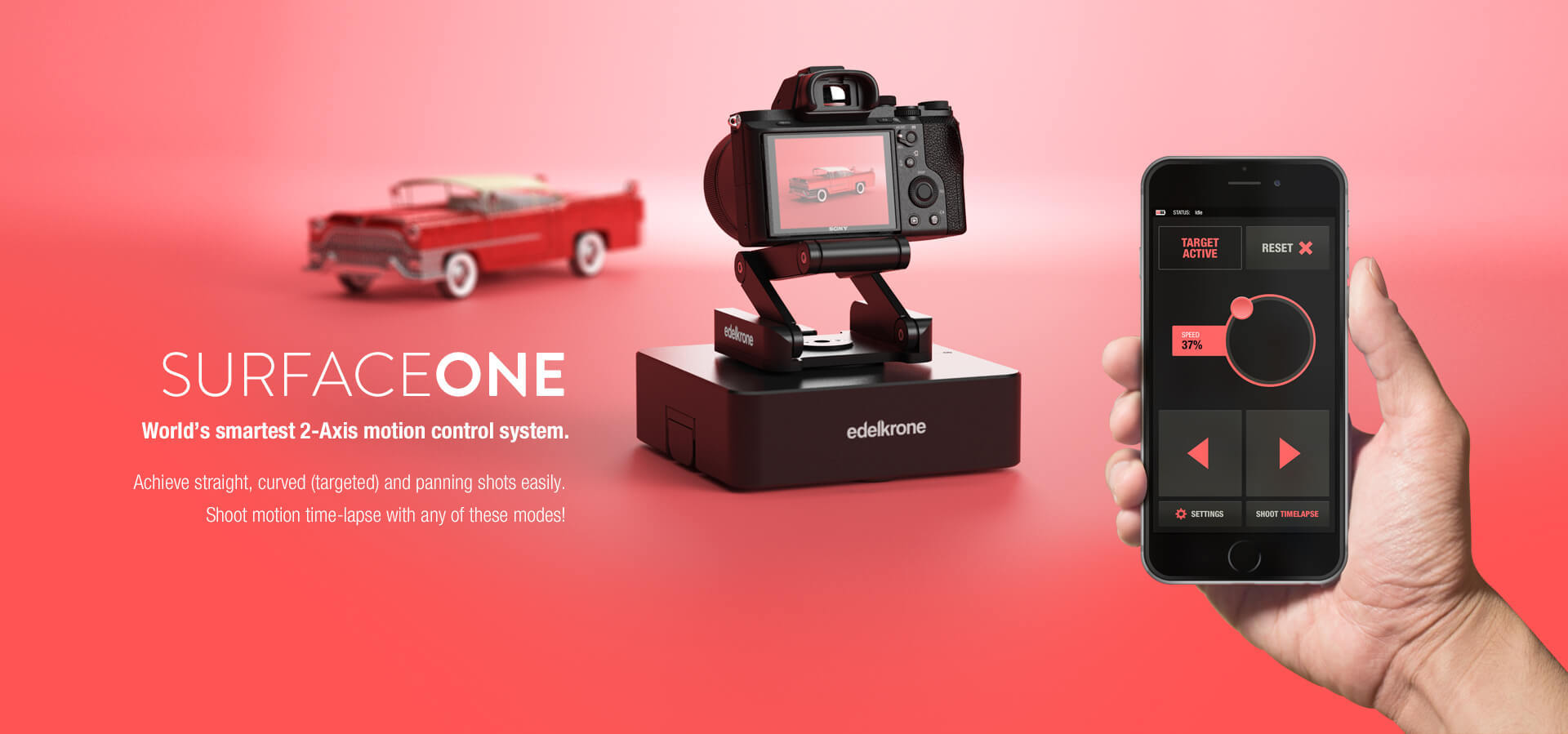 edelkrone launches surfaceone 2 axis smart motion control system digital photography review. Black Bedroom Furniture Sets. Home Design Ideas