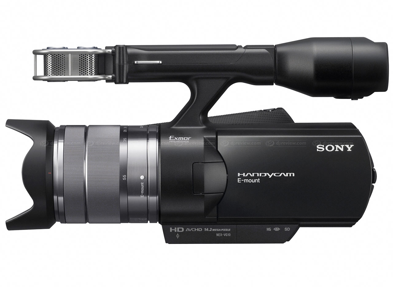 sony handycam e mount nex vg10