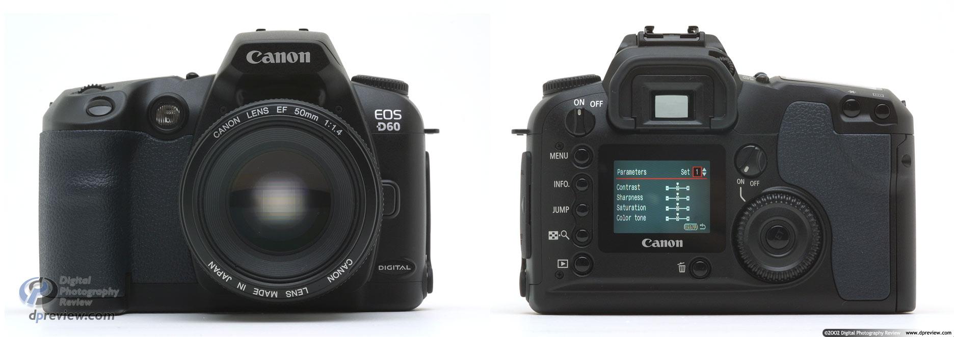 canon eos d60 6 megapixel d slr digital photography review rh dpreview com Canon EOS D30 canon eos d60 user manual