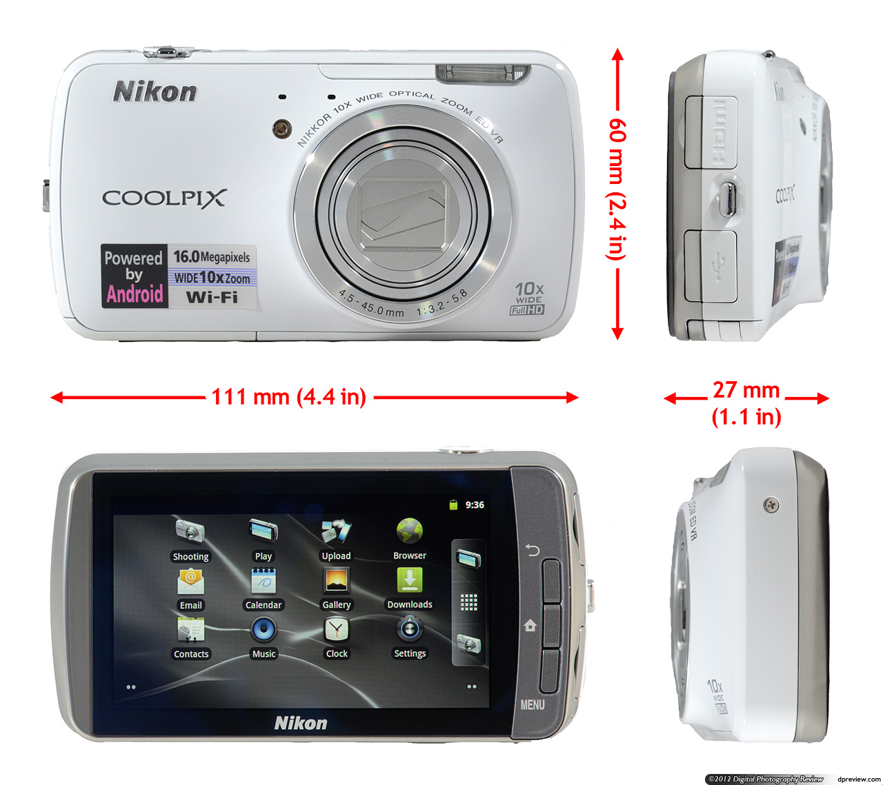 Nikon Coolpix S800c Android camera first look: Digital ...