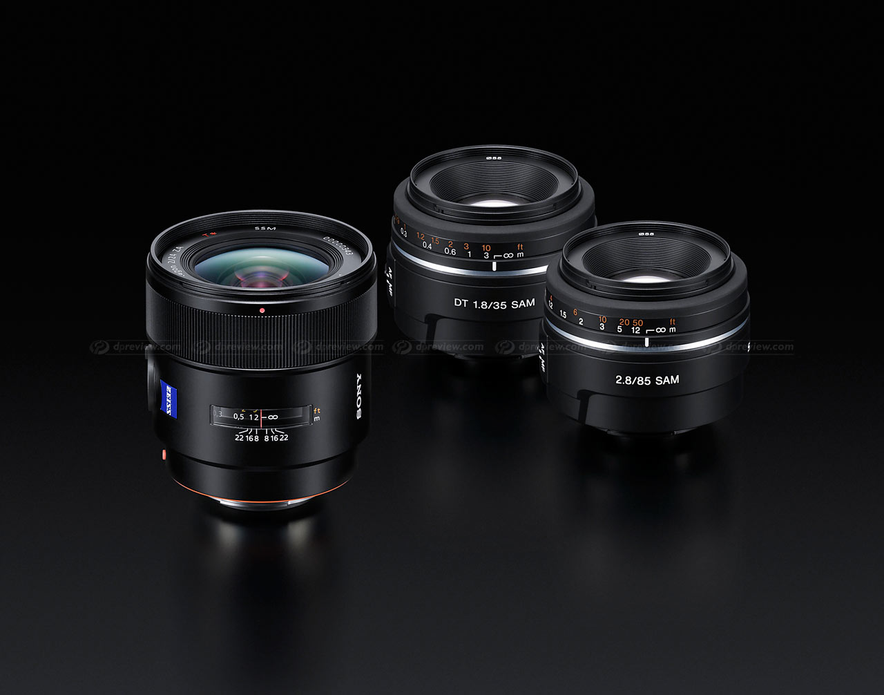 Sony unveils 24mm F2, 35mm F1 8 and 85mm F2 8 Alpha lenses