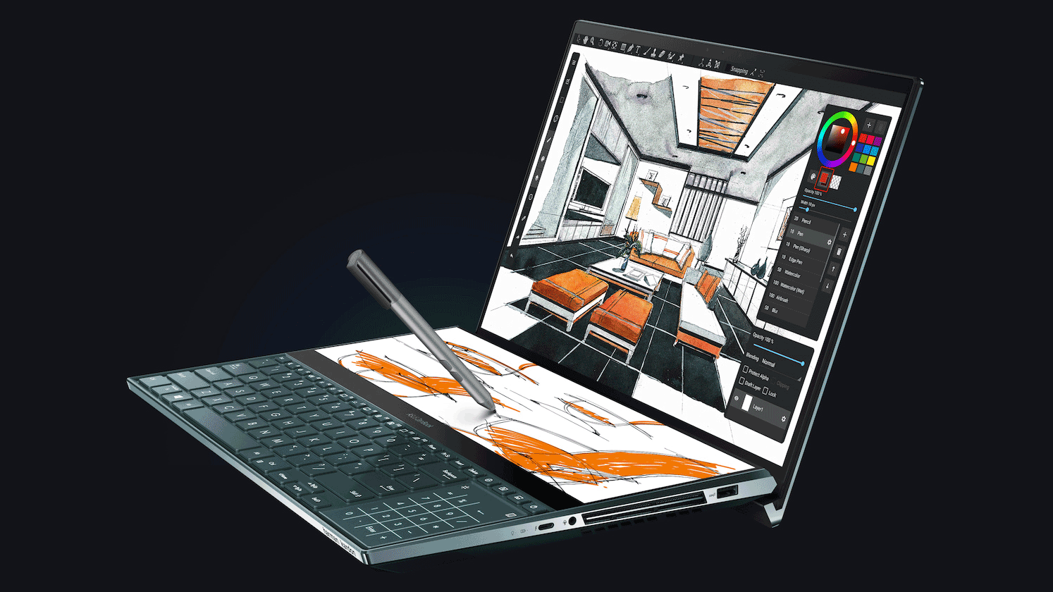 The Asus Zenbook Pro Duo features a secondary 4K touch-display