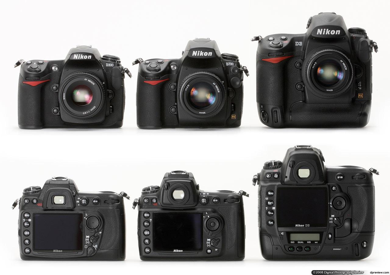 Сравнение профессиональных фотоаппаратов никон