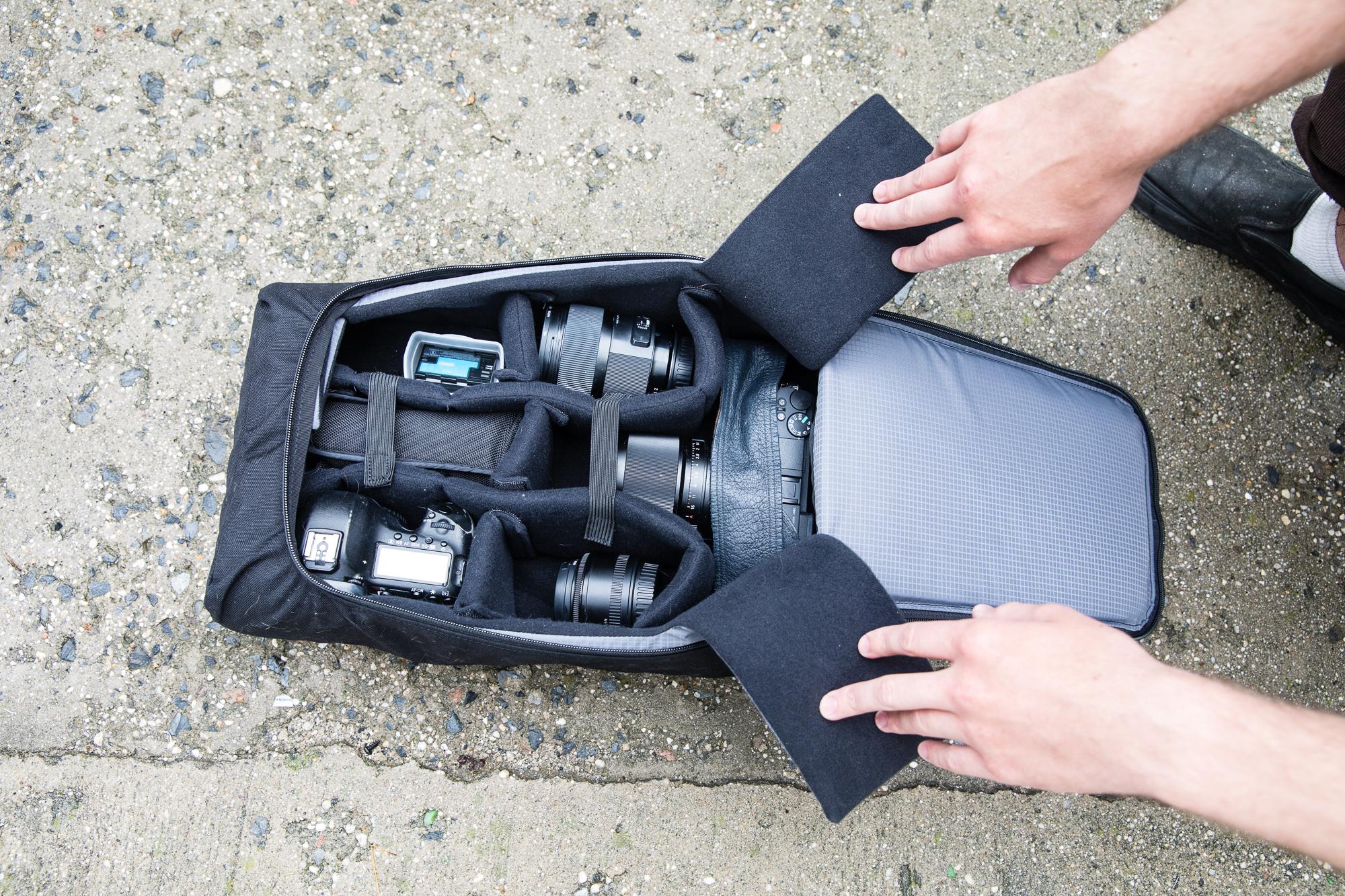 Digital Gear Bags Earnest Edal Water-resistant Dslr Padded Insert Case Waterproof Zipper Removable Partition Camera Bags