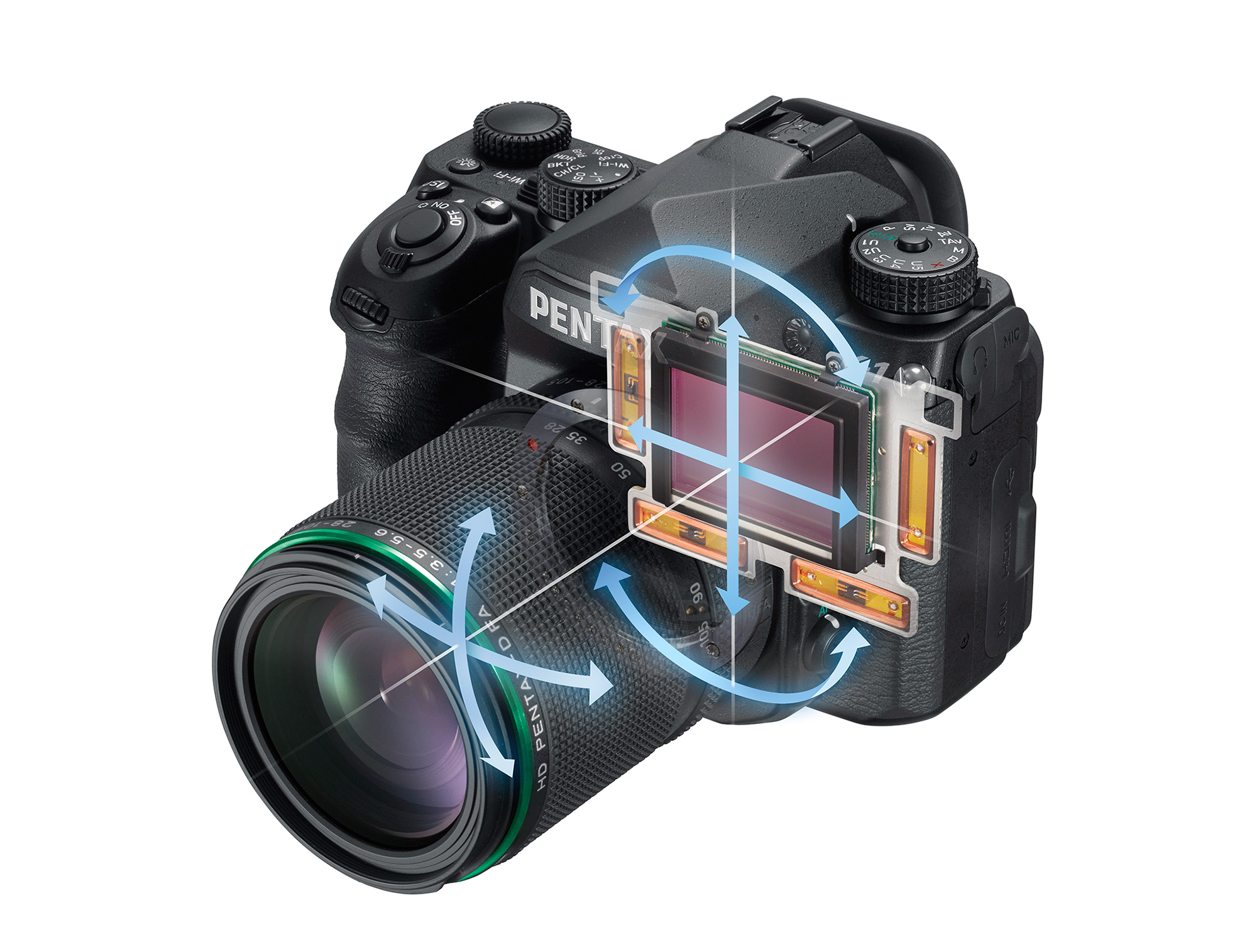 the k 1 is one of very few conventional dslrs to ever offer a stabilized full frame sensor but as well as image stabilization the k 1s sensor can also be