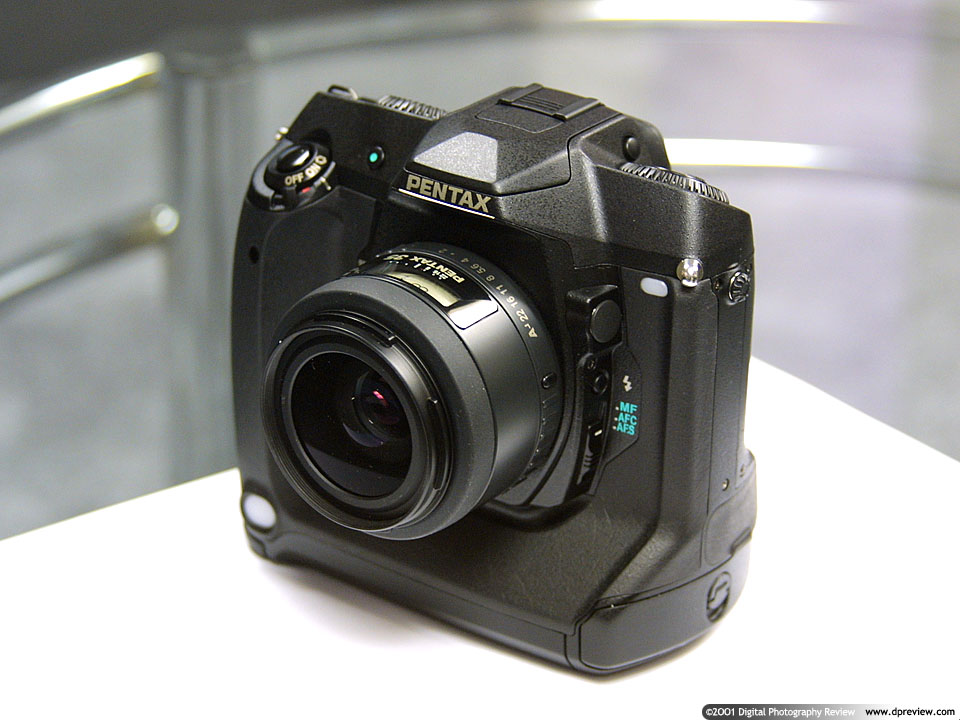 the original unnamed pentax full frame dslr which was to be based around a 6mp phillips ccd sensor and was originally intended to ship in spring 2001