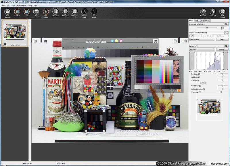 canon raw file conversion software