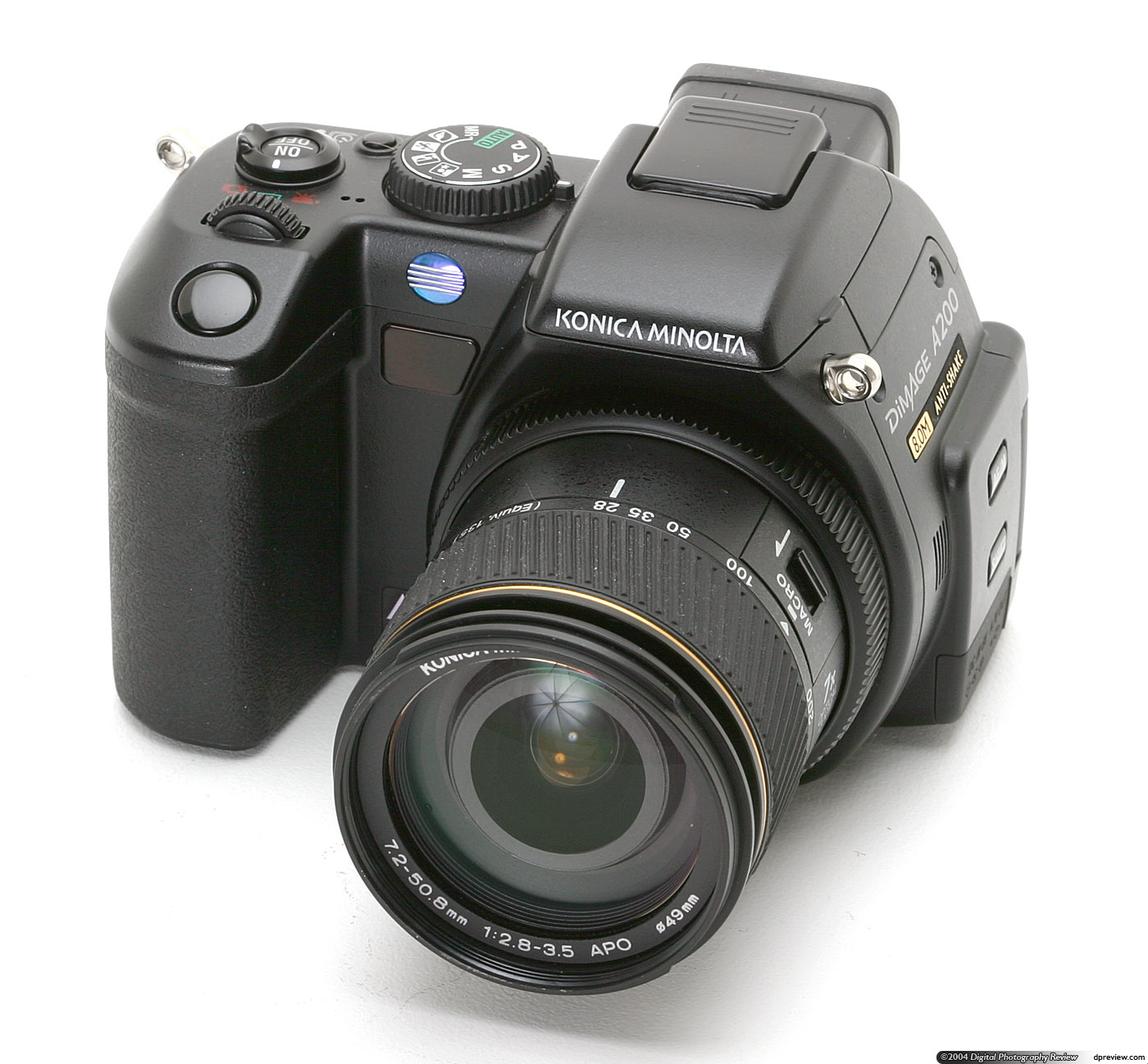in september 2004 konica minolta revealed a slightly surprising new dimage a series digital camera the dimage a200 based on the dimage a2 and predecessor - Minolta Digital Camera