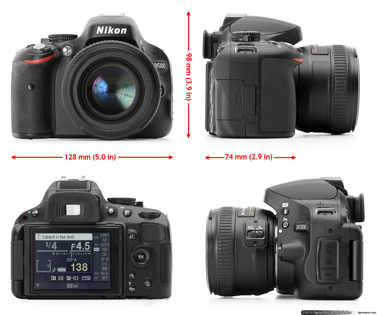 Reflex Camera Nikon D5100 Kit: review, features, reviews 13