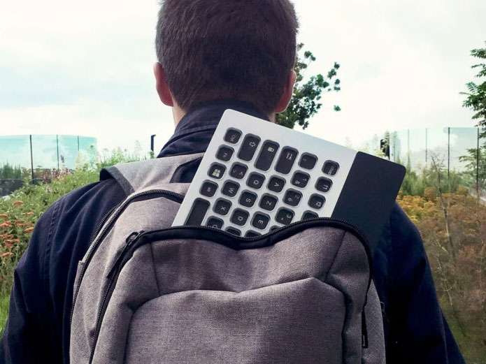 The Neimeo e-ink keyboard can be customized for Photoshop, Lightroom