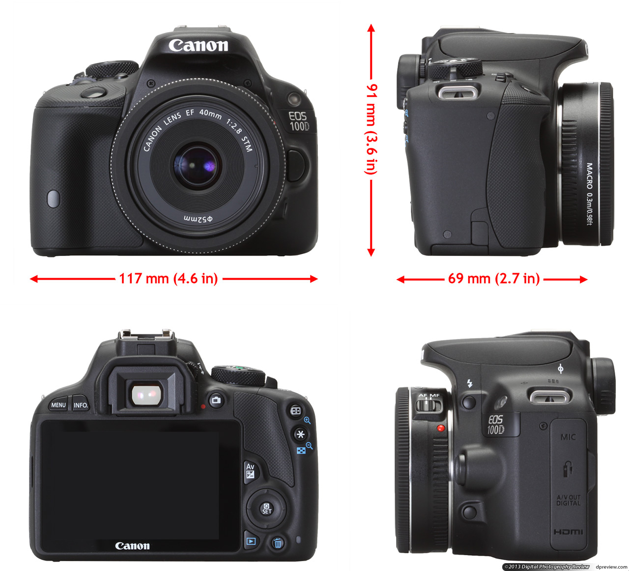 Canon EOS 100D/Rebel SL1 Review: Digital Photography Review