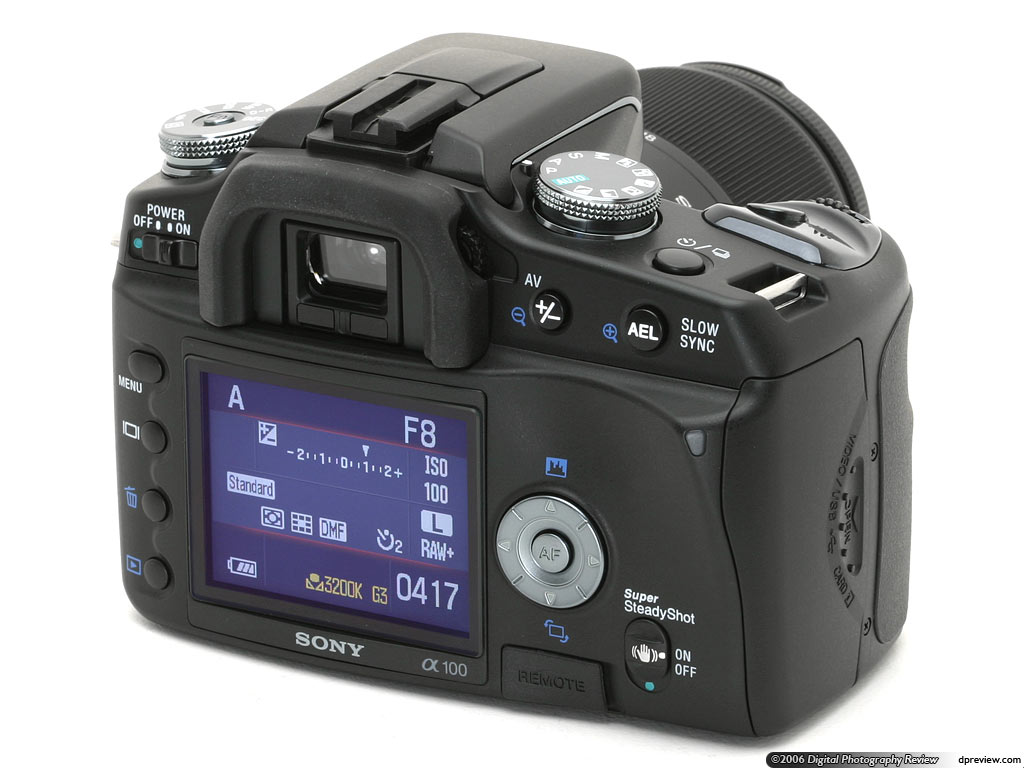 Camera Sony Dslr-a100 Digital Camera sony alpha dslr a100 review digital photography review