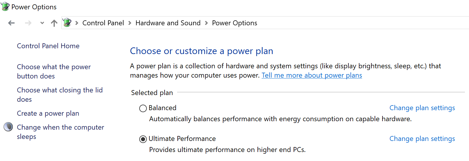 Microsoft adds 'Ultimate Performance' mode to latest Windows