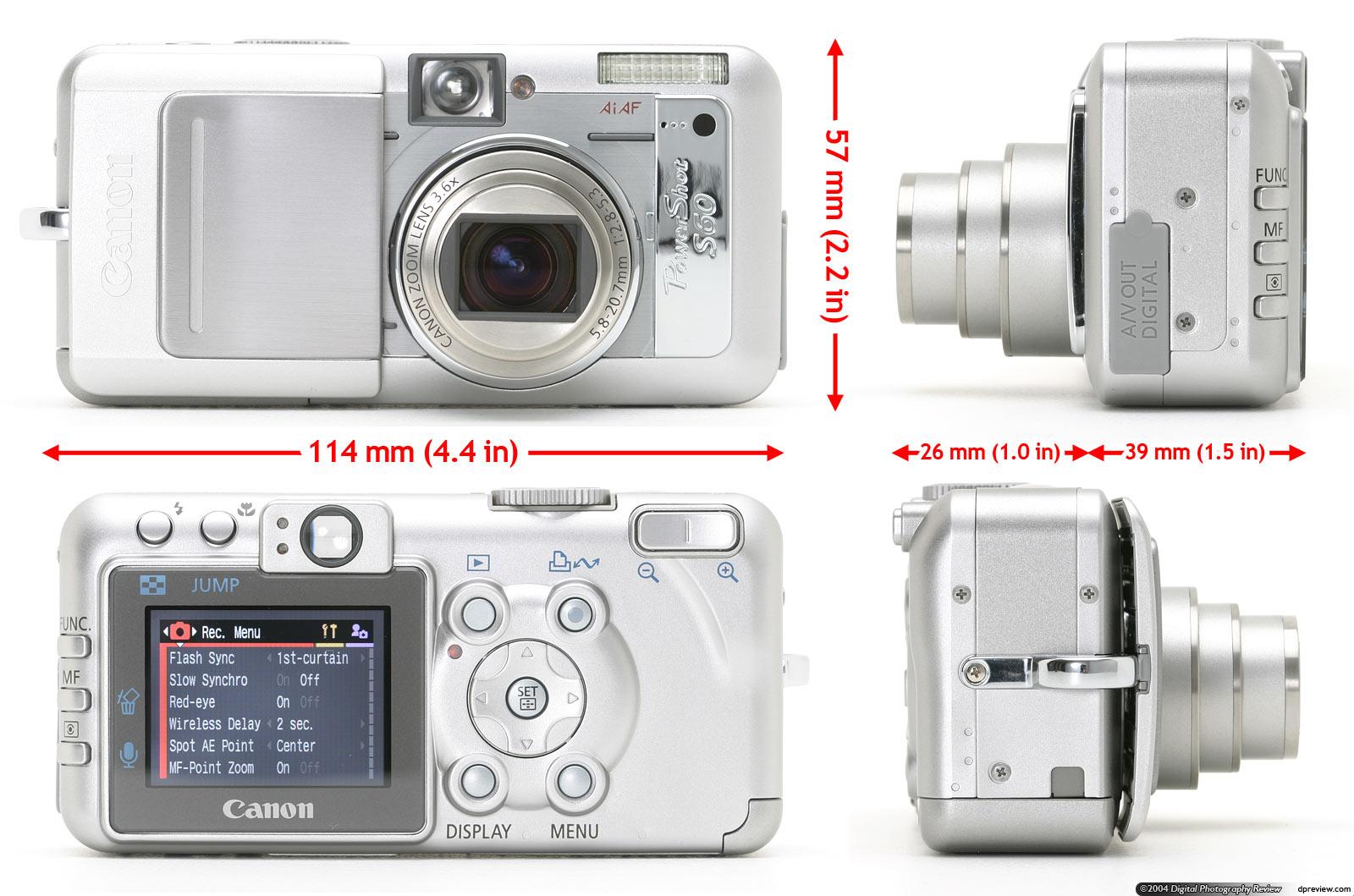 Canon Powershot S60 Review Digital Photography Ricoh Strap St 3 W Design