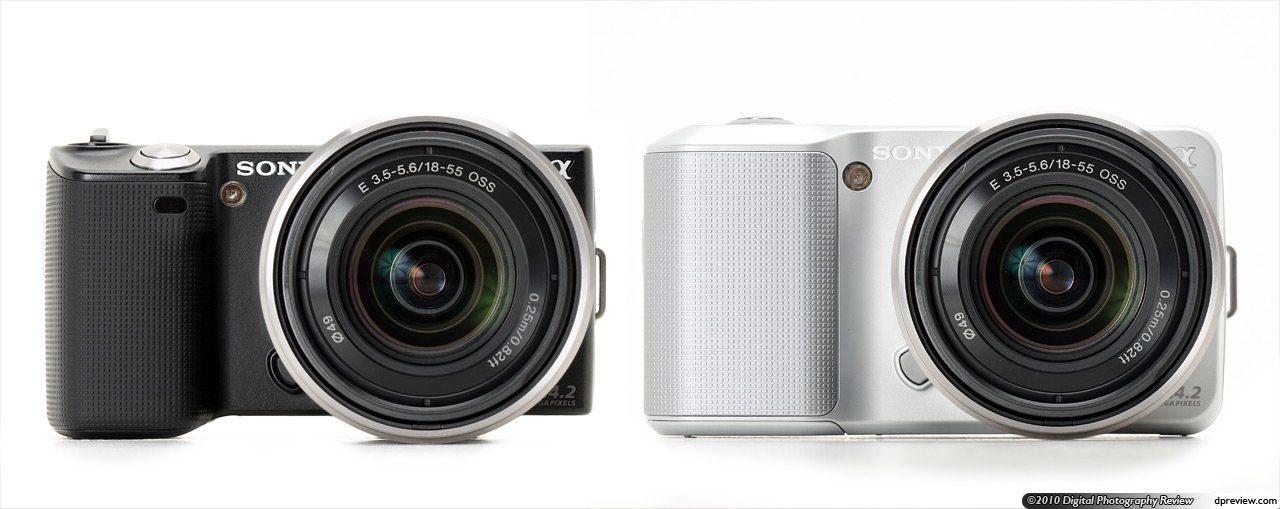 The nex series will initially comprise two cameras the nex 5 and nex 3 in terms of specifications both cameras are essentially identical the nex 5