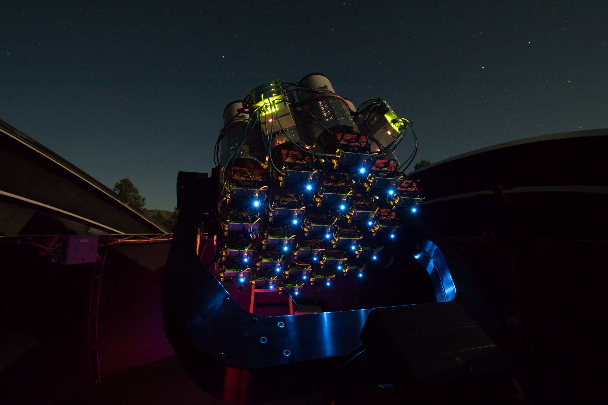 An array of canon mm f l ii lenses is helping astronomers