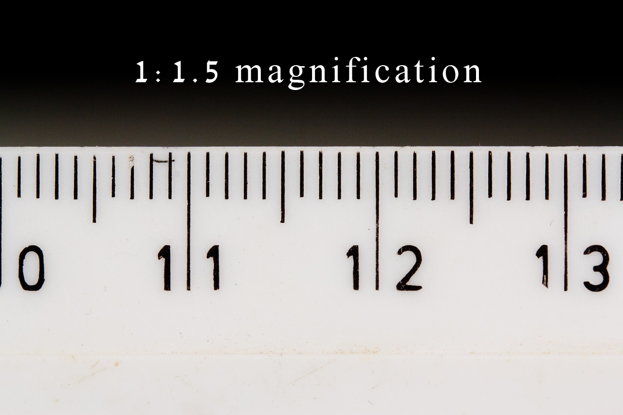 Macro Photography Understanding Magnification Digital 2000 Ford F 150 5 4l Engine Diagram The Camera Closer So That Now Thirty Three 1mm Notches Are Visible In Frame This 22mm 33mm Relationship Yields A Ratio Of 115