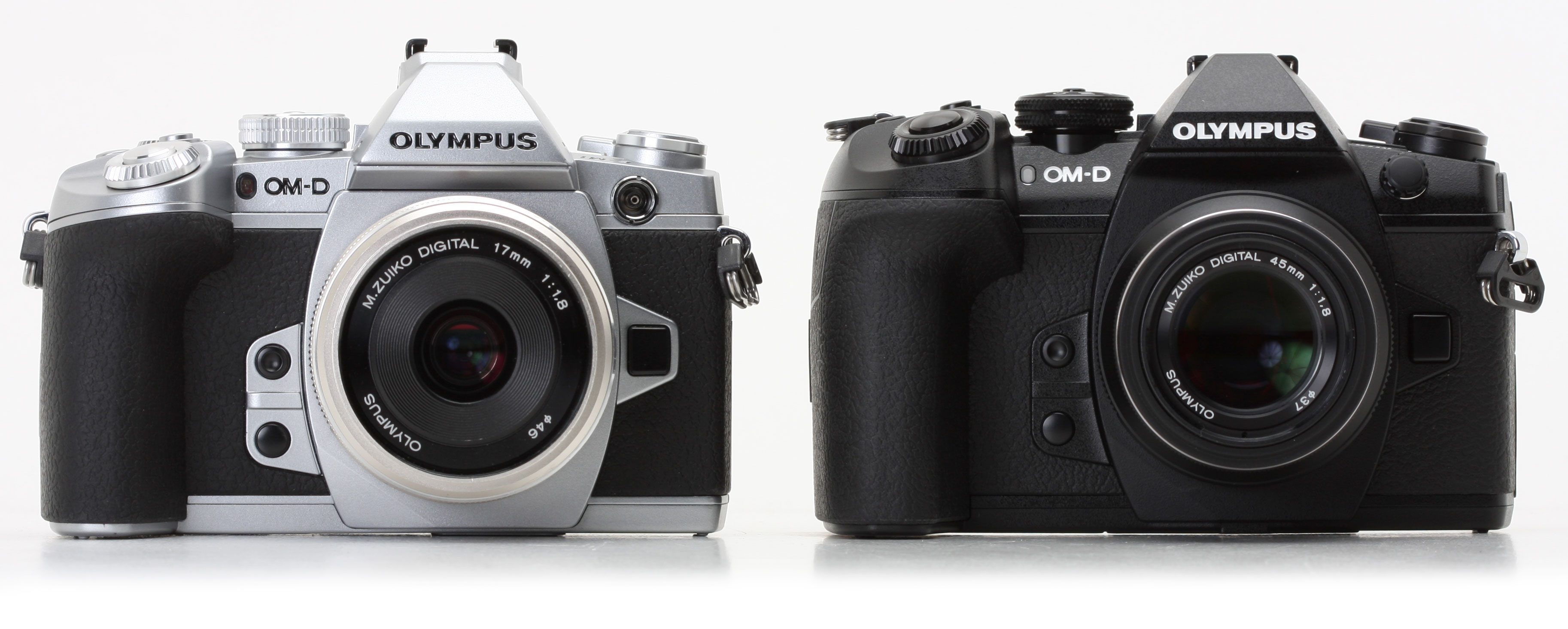 f2275b87cb95 The original E-M1 (left) and E-M1 Mark II (right) side-by-side. The bodies  and control layout are remarkably similar - but note the increased height of  the ...