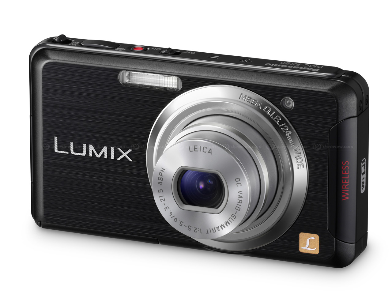 Lumix FX90 Wi-Fi-enabled touchscreen compact camera: Digital