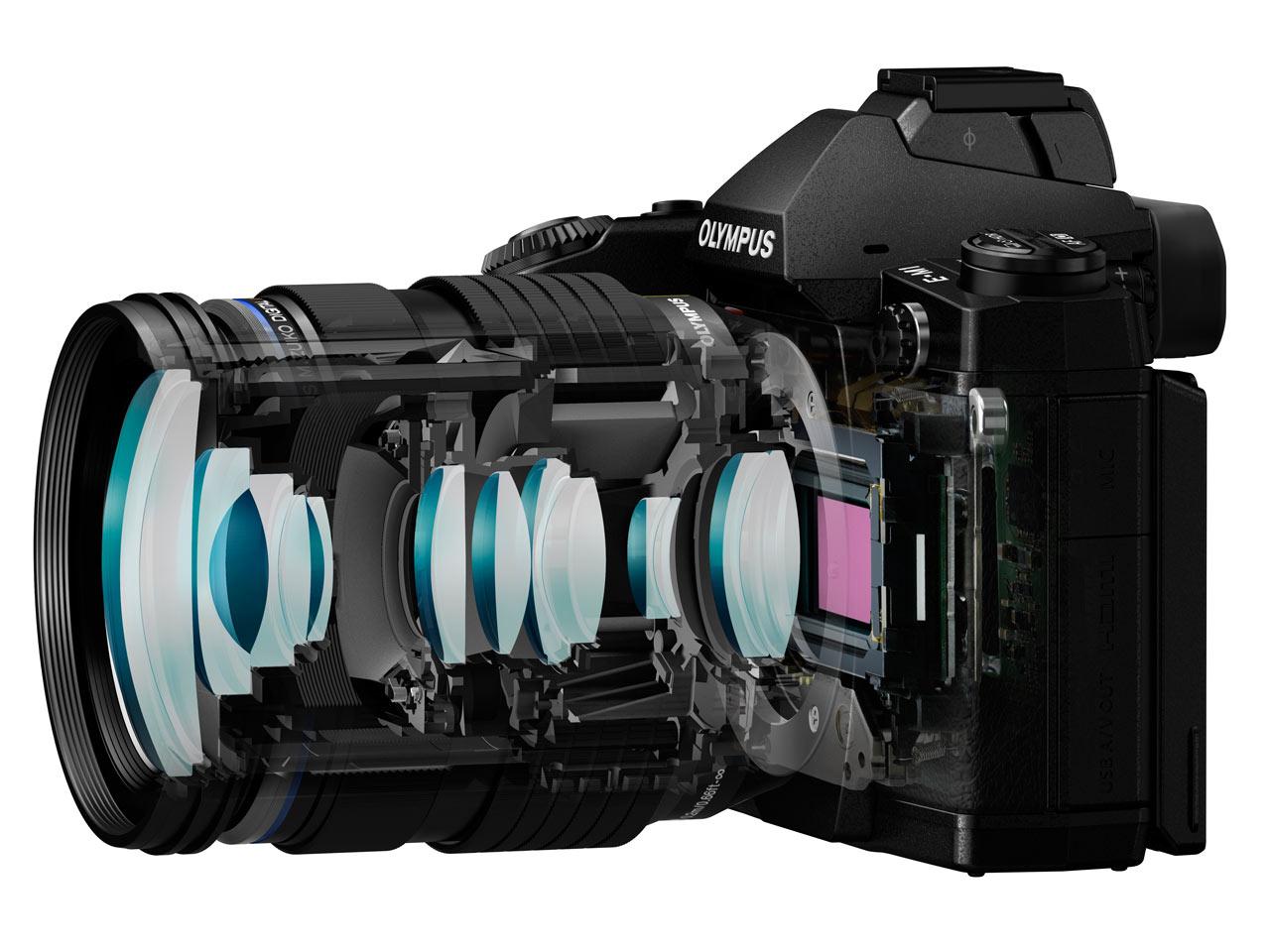 Olympus Introduces Mzuiko Digital Ed 12 40mm F28 Pro Zoom Om D E M5 Mark Ii Kit F 28 Cutaway Showing Optical Design