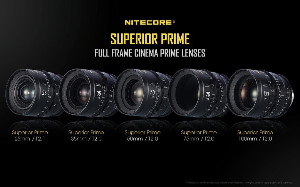Nitecore leaps into the world of optics with 5 new full-frame cinema lenses