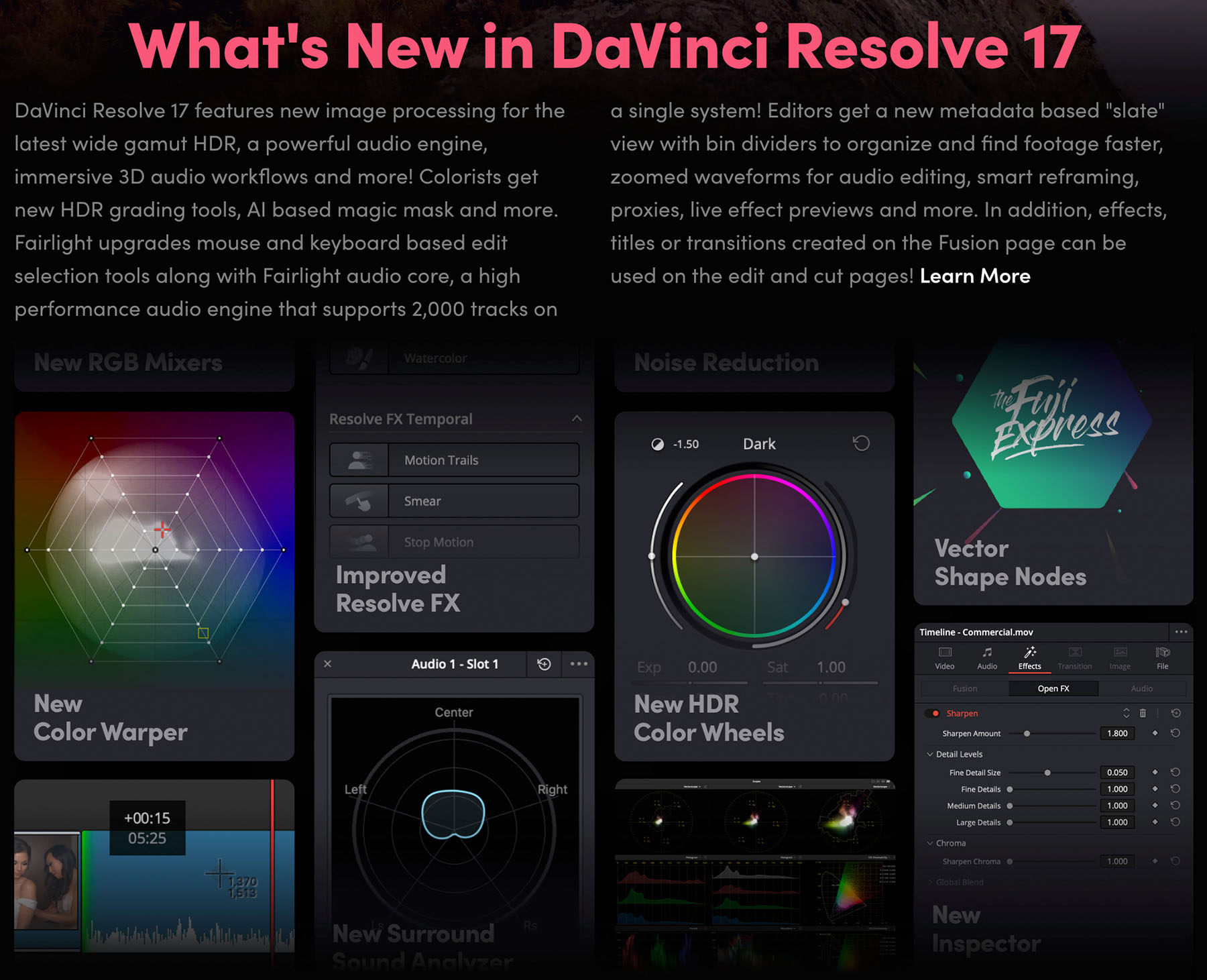 Davinci Resolve 17 Announced Includes Over 300 New Features And Improvements Digital Photography Review