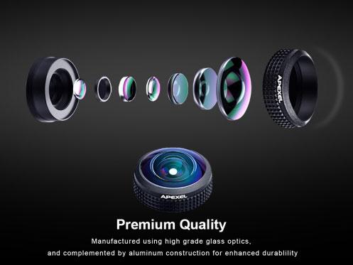 Kết quả hình ảnh cho Quick review : Apexel 8mm fisheye lens for smartphones