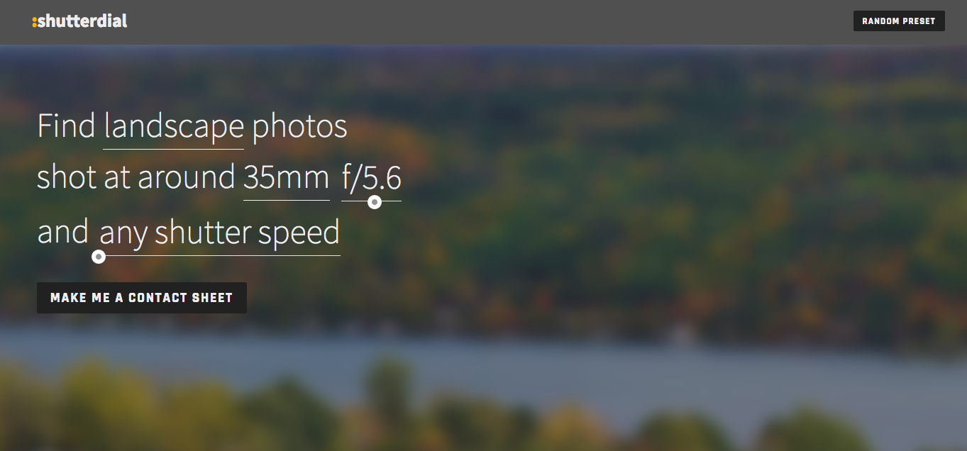 Shutterdial offers Flickr searches based on EXIF