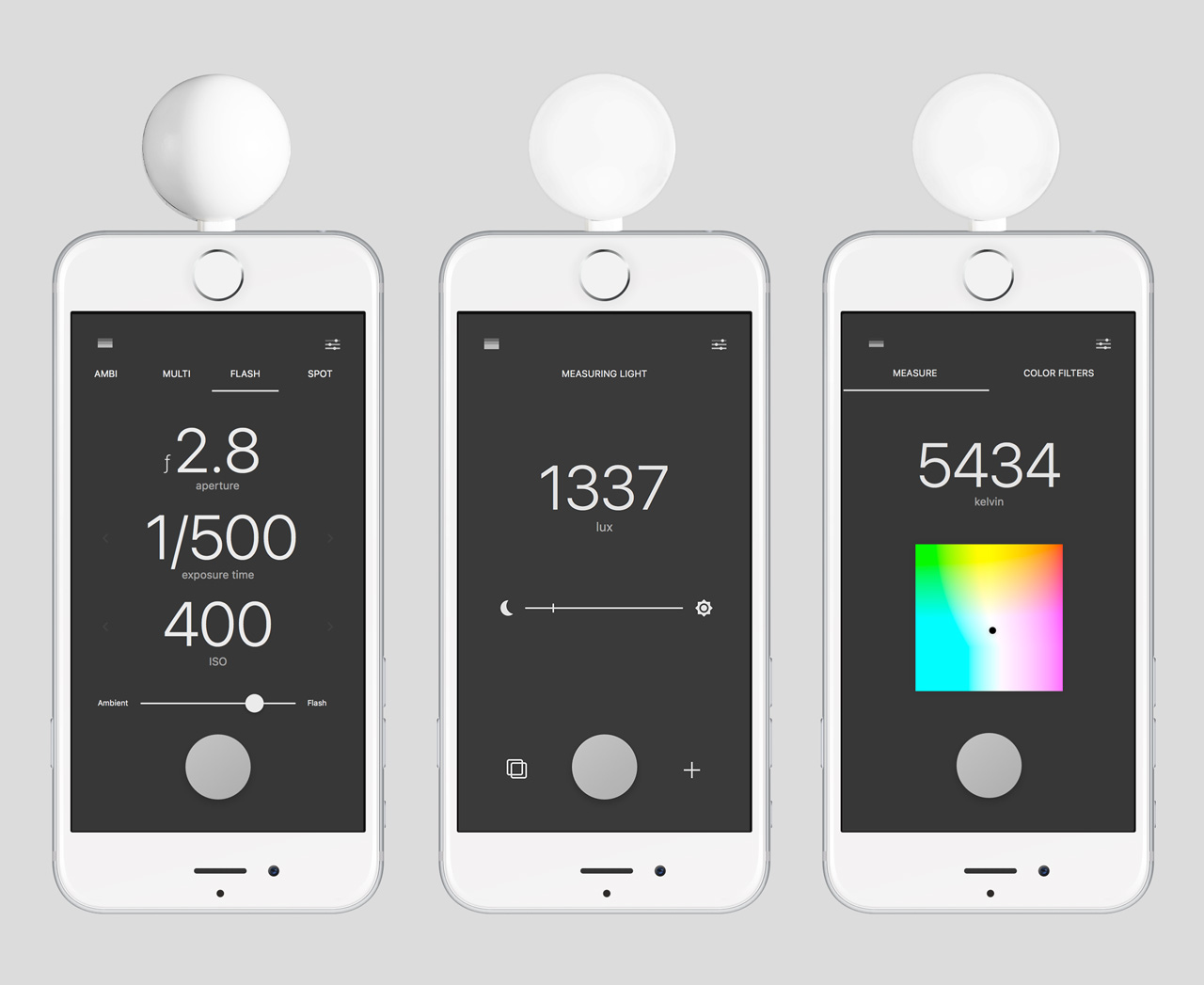 Lumu Power meters light, flash and color temperature